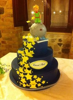 le petit prince cake Little Prince Party, The Little Prince, Prince Birthday Theme, Cupcake Cookies, Cupcakes, Prince Cake, Bithday Cake, Decoration Patisserie, Cake Decorating Techniques
