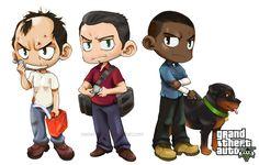 GTA V: group by neoanimegirl on DeviantArt Dope Cartoons, Dope Cartoon Art, Gta Bully, Trevor Philips, Tf2 Funny, Gta Cars, Punisher Marvel, Soccer Guys, Gta 5 Online