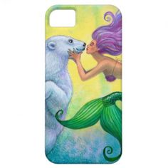 Polar Bear Mermaid Kiss Case