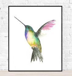 Origineel kolibrie schilderij-original painting-colorful