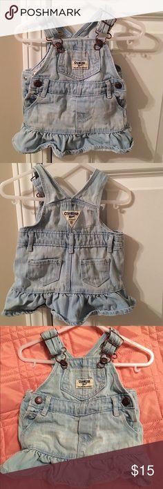 Baby girl denim overall skirt In good condition Oshkosh B'Gosh  Dresses
