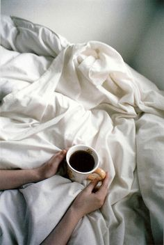 Comfy coffee in bed by Heather McCutcheon.