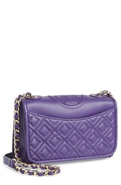 Adore the rich purple color of this Tory Burch leather should bag.