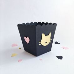 shop: Cat Party Favor Boxes Meow Kitten Girl Birthday Bachelorette Party Decorations Girl Baby Shower Pink Black Gold Custom Candy Popcorn Boxes Excited to share the latest addition to my Bachelorette Party Decorations, Baby Shower Decorations, Popcorn Boxes, Candy Popcorn, Black Gold Party, Custom Printed Boxes, Bedroom Decor For Teen Girls, Custom Candy, Black Gold Jewelry
