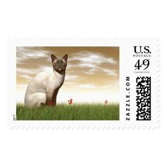 #Siamese cat postage - #Petgifts #Pet #Gifts #giftideas #giftidea #petlovers