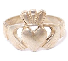 estate vintage sterling silver claddagh ring size 10 by ShopLucky, $60.00