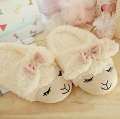 df67bc7779e Cute Sheep Animal Cartoon Women Winter Home Slippers For Indoor Bedroom House  Warm Cotton Shoes Adult