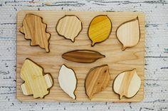 quebra cabeça folhas madeira