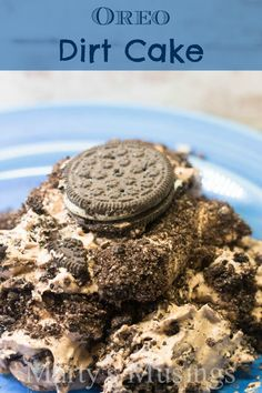 Oreo Dirt Cake ~ warning...addicting! This was my favorite as a child! Add some gummy worms & it makes a great Halloween dessert!