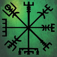 A Vegvísir (Icelandic 'sign post') is an Icelandic magical stave intended to help the bearer find their way through rough weather.