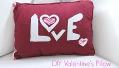 How to make a super easy No Sew Pillow Cover - Fresh Idea Studio Diy Valentine's Pillows, Sewing Pillows, Throw Pillows, Easy No Sew Pillow Covers, Color Rosa, Valentines, Valentine Pillow, Pillow Cases, Easy Diy