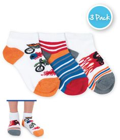 Jefferies Socks Dirt Bike Low Cut 3 PK