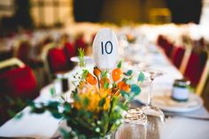 Spoon Table Numbers Autumn Kentish Village Hall Wedding http://www.livvy-hukins.co.uk/
