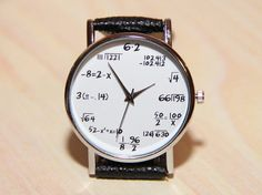 Formula Watch Wristwatches formula student by RedMadagaskar Unique Watches, Watches For Men, Women's Watches, Physics Formulas, Birthday Wishlist, Ring Earrings, Looking For Women, Clock, Wristwatches