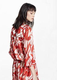 Vestido gasa floral | MANGO