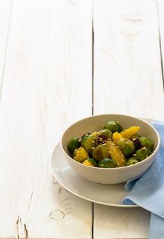 Insalata di cavoletti di bruxelles - Orange and brussel sprouts salad