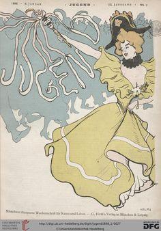 Jugend: Münchner illustrierte Wochenschrift für Kunst und Leben (3.1898, Band 1 (Nr. 1-26)) (G 5442-10 Folio RES)