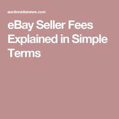 eBay Seller Fees Explained in Simple Terms