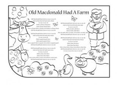 Mary mary contrary nursery rhyme coloring pages spring for Old macdonald coloring pages