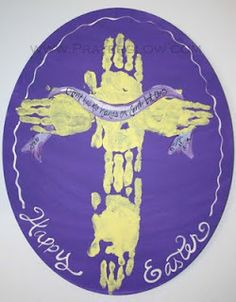 Handprint cross; Easter Craft!!!