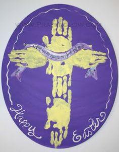 Handprint cross; Easter Craft; Baptism