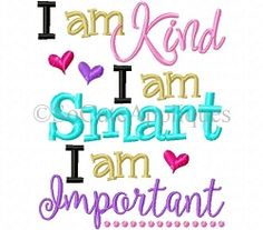 I Am Kind - 2 Sizes | What's New | Machine Embroidery Designs | SWAKembroidery.com
