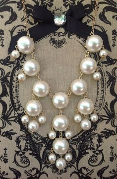 Perfect Pearls Bubble Necklace on Etsy, $14.00. Classy and modern at the same time.