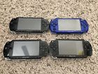 Sony PSP Lot Of 4 1001 2001 Parts Or Repair. Blue And Black All Turn On