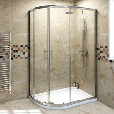 V6 Quadrant Offset Shower Enclosure 1000 x 800 - Victoria Plumb
