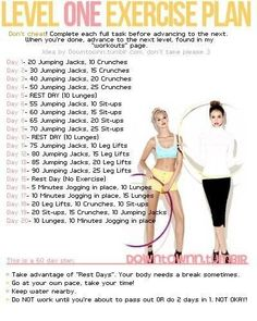 A beginners workout routine!  Be Fit!