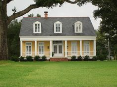 Colors Yellow House White Porch Med Grey Roof Add Black Front Door