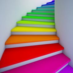 Yes!  Finally the perfect staircase for a colour enthusiast.