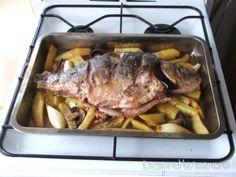 crap la cuptor, cu legume 2 Crap, Pork, Kale Stir Fry, Pork Chops