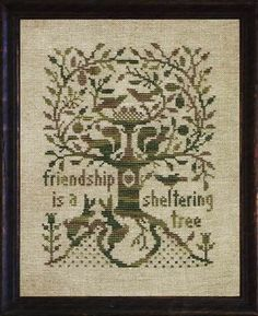... Sheltering Tree, A - Cross Stitch Pattern I think this would make a wonderful quilt!