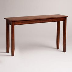 Love this console table.  No shelves though.  One of my favorite discoveries at WorldMarket.com: Chloe Foyer Table