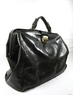 a3d265ddb710 Large Black Leather Weekender Bag Men Black Leather Doctor Bag Made in  Italy Mens Weekend Bag
