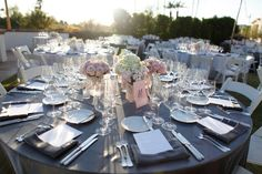 elegant, romantic, modern pink and grey  Nikki...the simplicity of this makes is gorgeous!!!