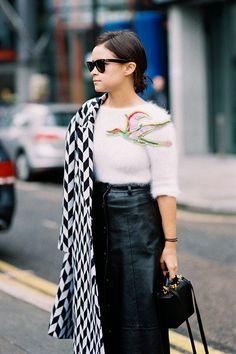 Vanessa Jackman: London Fashion Week AW 2014....Miroslava