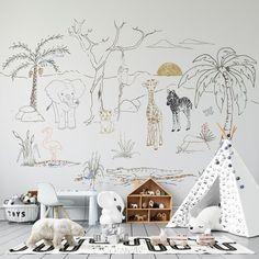 All Wallpapers   Munks and Me Beautiful Stories, Animal Wallpaper, Nursery Inspiration, Safari Animals, Giraffe, Elephant, Leaves Wallpaper, Kids Rugs, Table Decorations