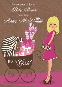 #ohbaby baby girl shower invitation- http://www.invitationbaby.com/baby-shower-invitations-c-2/