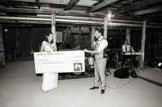 Best wedding surprise, my own giant cheque!