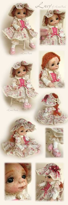 Люси Wet Felting, Needle Felting, Doll Maker, Felt Dolls, Beautiful Dolls, Cool Pictures, Doll Clothes, Teddy Bear, Textiles