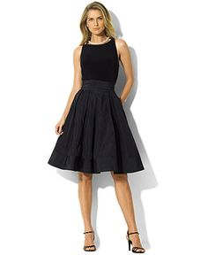 Lauren by Ralph Lauren Dress, Pleated Cocktail Dress - Shop All Lauren Ralph Lauren - Women - Macy's
