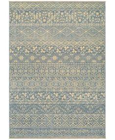 "Couristan Grand Manor Ophelia Azure-Tan 6'6"" x 9'6"" Area Rug"