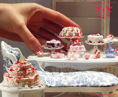 Incredible 1:12 scale Marie Antoinette film-inspired pastries.