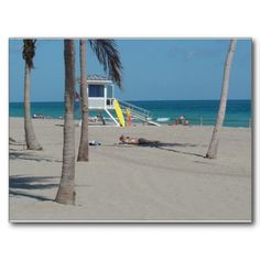 Ft Lauderdale Beach Lifeguard Stand Postcard - 30% Off Cards & Postcards  Use Code at Checkout: CARDCARDCARD  Offer expires 6/30/13
