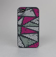 The Abstract Striped Vibrant Trangles Skin-Sert for the Apple iPhone 4-4s Skin-Sert Case
