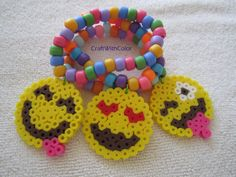 Emoji Inspired Charms; EDC Rave Kandi Bracelets PLUR, Emoticon