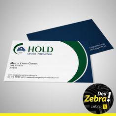 Cartão de Visitas da Hold. #Zebra #cartão #identidade #visual #publicidade #mkt #marketing #cores #propaganda #comunicação #agência #DeuZebra #job #banner