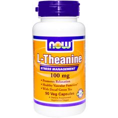 Now Foods, L-Theanine, 100 mg, 90 Veggie Caps